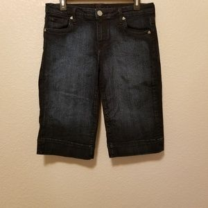 Kut from the Kloth Dark Wash Bermuda Denim Shorts